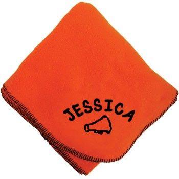 Cheer Fleece Blanket with Custom Lettering-0