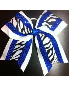 Cheer Competition Bow Zebra Two Pack-0
