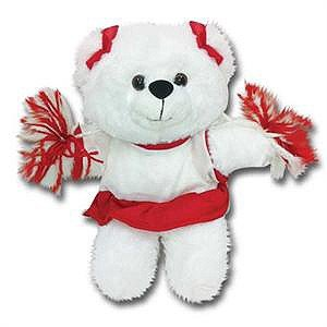 Cheerleading Bear with Uniform Colors-0