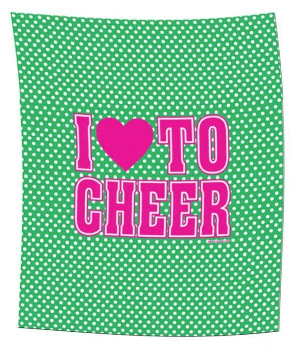 Cheer Heart Polka Dot Blanket-0