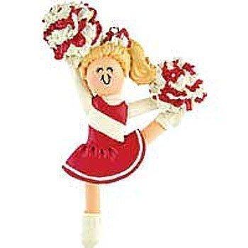 Cheerleading Ornament Resin Cheerleader in School Colors-0