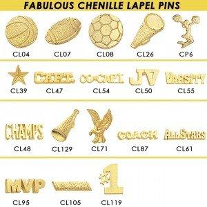 Cheer Sports Chenille Lapel Pins-27629