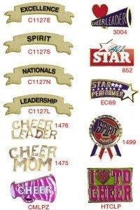 Cheerleading Chenille Lapel Pins-27631