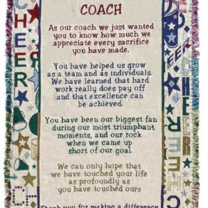 Cheerleading Coach Poem Throw-0