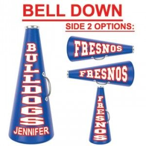 """19"""" Cheerleading Megaphone with Decal Two Sides-28407"""