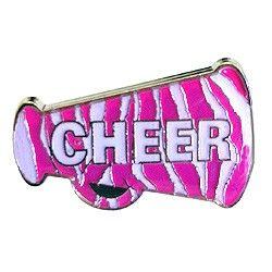 Cheer Megaphone Zebra Trading Pin-0