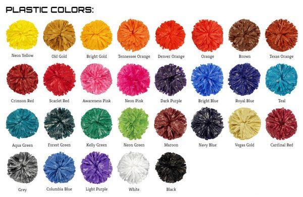 Custom 2 Color Mix Youth Plastic Show Pom-26374