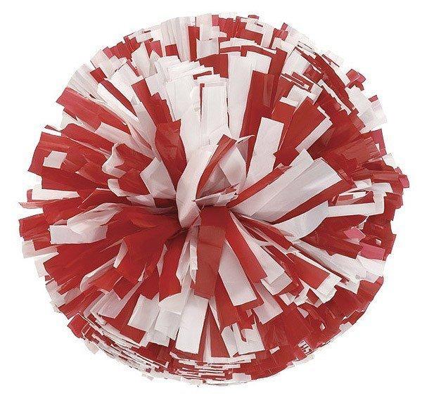 2 Clr Mix Plastic Show Pom-0