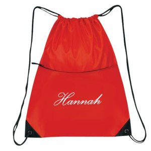 Cheerleading Bags Drawstring with Name in Script font-0