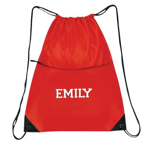 Cheerleading Bags Drawstring with Name in Full Block Font-0