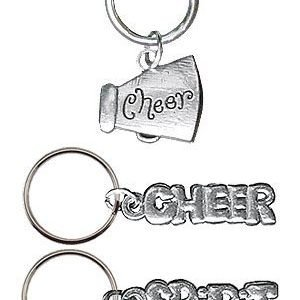 Cheerleading Key Rings Pewter-0
