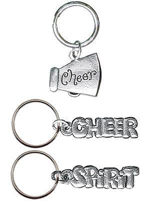Cheerleading Key Rings Pewter-0
