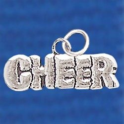 Cheerleading Charms Silver Cheer-0