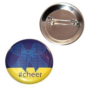 Cheer Button Bow #cheer-0