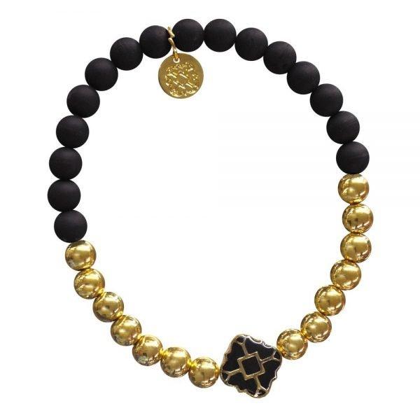 Gold Bracelet in Team Colors-28567