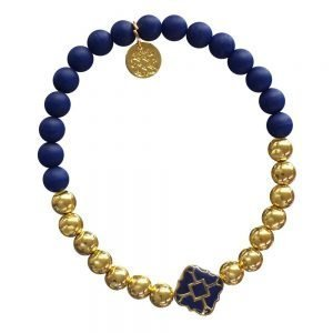 Gold Bracelet in Team Colors-0