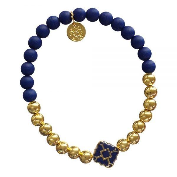 Gold Bracelet in Team Colors-0