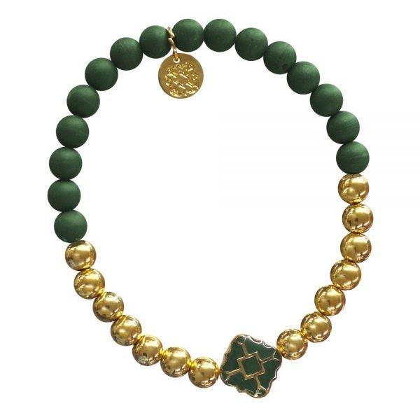 Gold Bracelet in Team Colors-28569