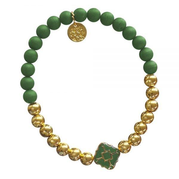 Gold Bracelet in Team Colors-28570