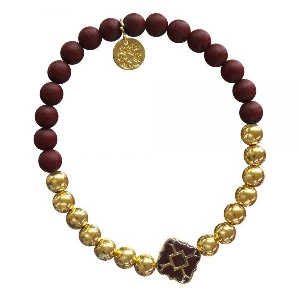 Gold Bracelet in Team Colors-28572