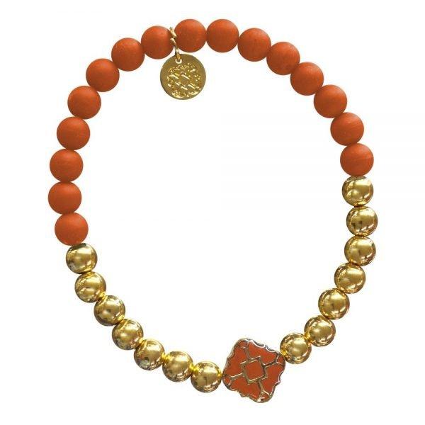 Gold Bracelet in Team Colors-28571