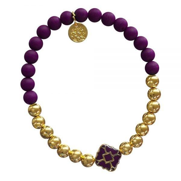 Gold Bracelet in Team Colors-28573