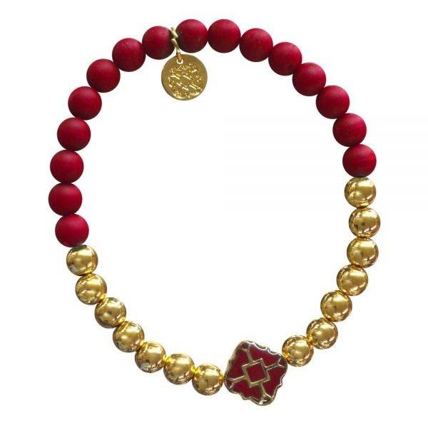 Gold Bracelet in Team Colors-28574