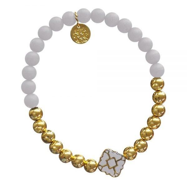 Gold Bracelet in Team Colors-28575