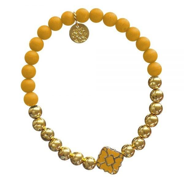Gold Bracelet in Team Colors-28576