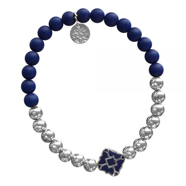 Silver Bracelet in Team Colors-28556
