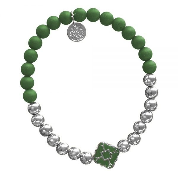 Silver Bracelet in Team Colors-28559