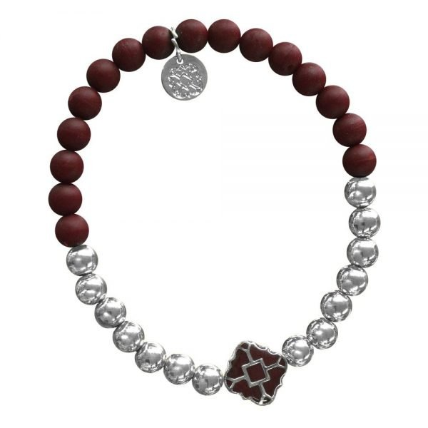Silver Bracelet in Team Colors-28558