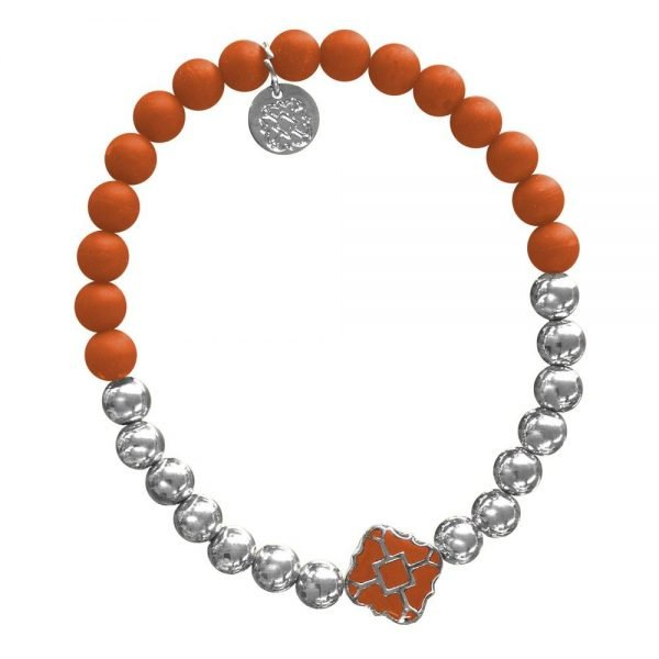 Silver Bracelet in Team Colors-28561