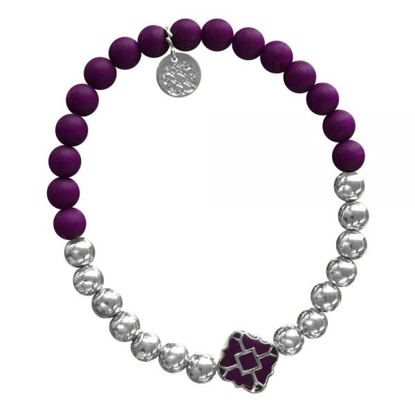 Silver Bracelet in Team Colors-28562