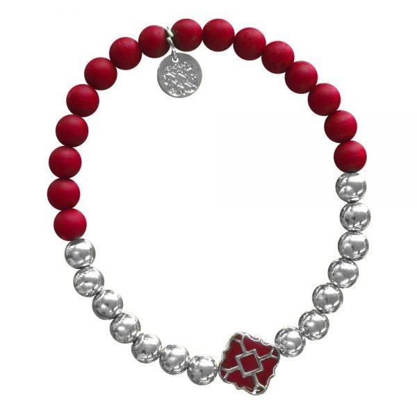 Silver Bracelet in Team Colors-28564