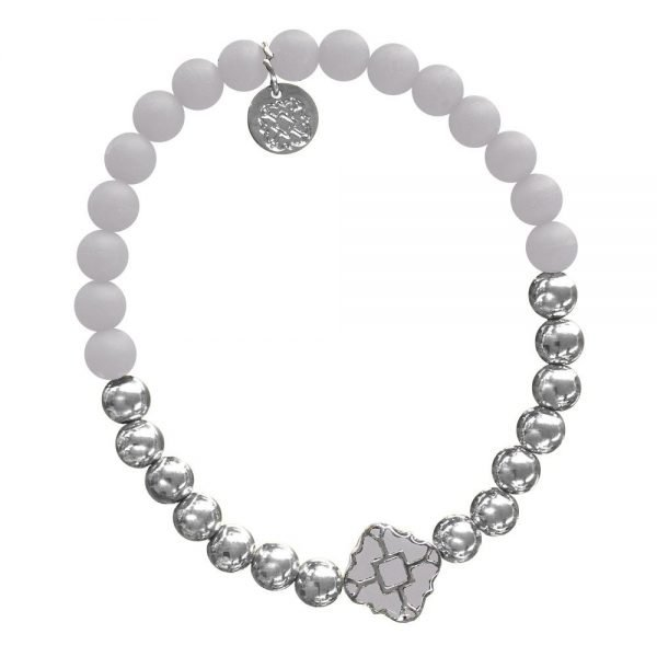 Silver Bracelet in Team Colors-28563