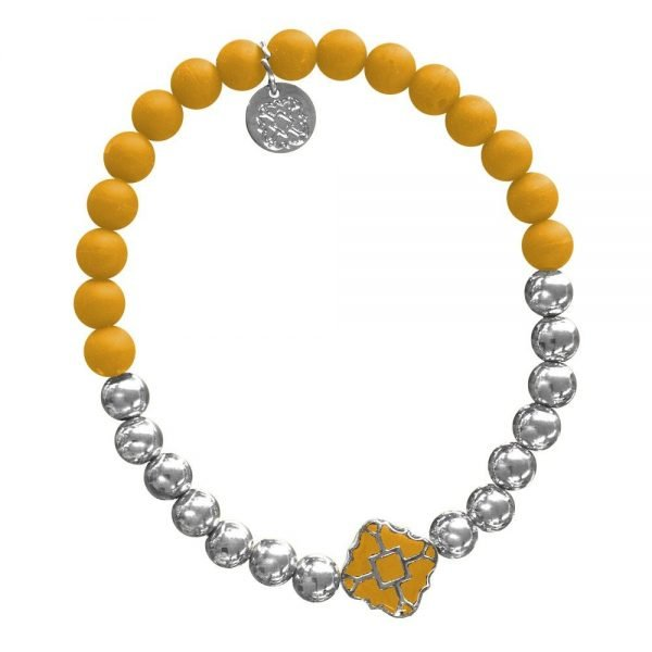 Silver Bracelet in Team Colors-28565