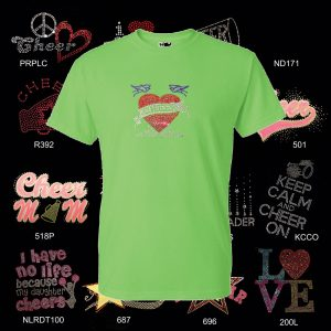 Cheer T shirt with Rhinestone Designs-0