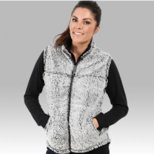 Full Zip Frosty Grey Sherpa Vest-0