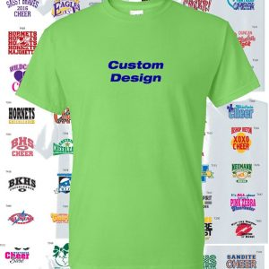 Cheer Team Shirt Dry Blend, 2 Color Print custom design-0