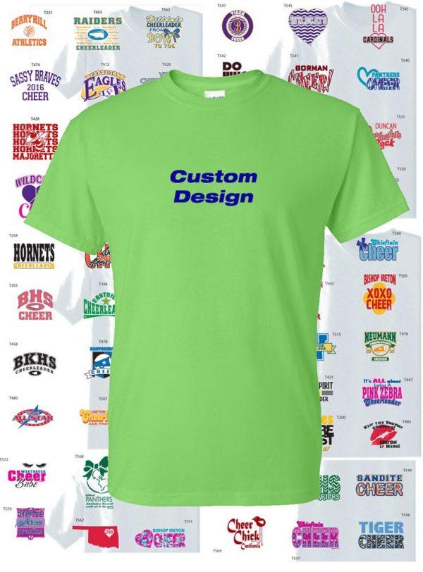 Cheer Team Shirt Dry Blend, 2 Color Print custom design-0