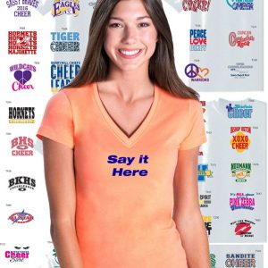 Custom Cheerleading Team V-Neck Jersey, 2 Color Print-0