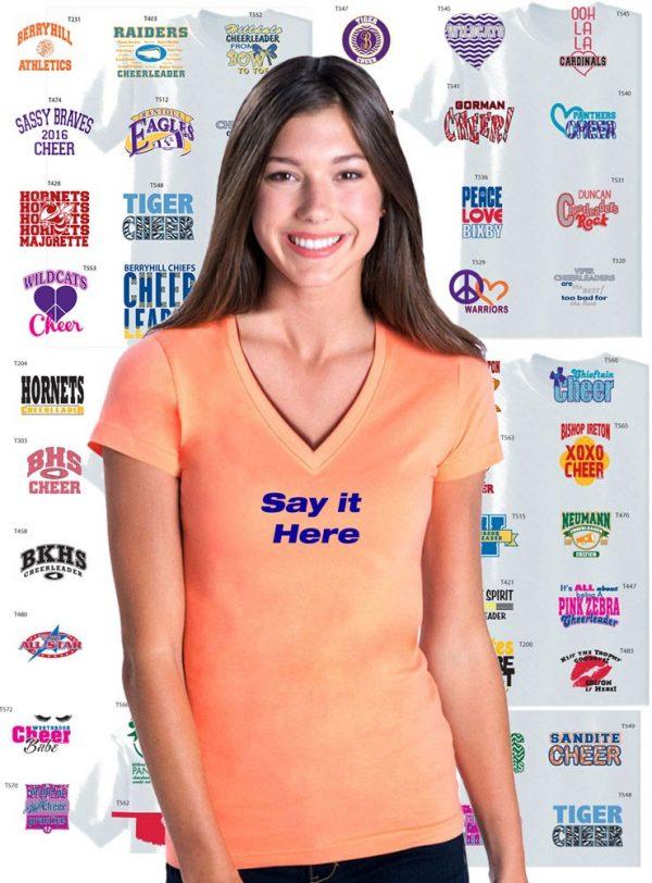 Custom Cheerleading Team V-Neck Jersey, 2 Color Print-0