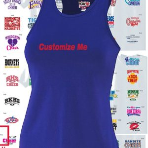 Ladies Solid Racerback Cheerleading Tank-0